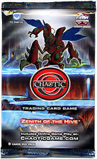 40x Chaotic Trading Card Game TCG Zenith Of The Hive Booster Packs