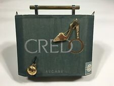 Handmade CREDO Cigar Box Art Bag with Silver & Gold Metal Rhinestone Decoration