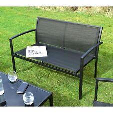 Ellister Siena 2 Seater Metal Bench Garden Sofa Chair Patio Furniture
