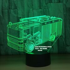 Fire Truck 3D led lamp,Can be Personalized,Colors changing,Remote control