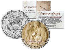 MICHELANGELO * MADONNA OF THE STAIRS * Jesus Sculpture JFK Half Dollar U.S. Coin