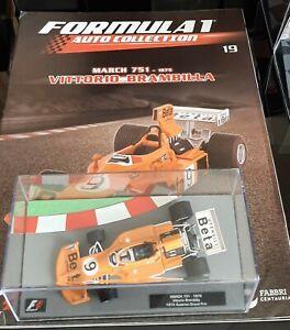 F1  MARCH 751 -1975 VITTORIO BRAMBILLA N.19