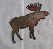 """6"""" Bull Moose Shape Deer Animal Rusty Rustic Vintage Metal Wall Art Craft Sign"""