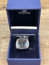 Nwt Swarovski Merlin Ring Cry/Rhs Med Sz 55 7.5 M 987372 In Box