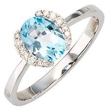 Echte Diamanten-Ringe im Cluster-Stil aus mehrfarbigem Gold mit Brilliantschliff