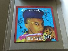 """CULTURE CLUB Miss Me Blind / Colour By Numbers 45 RPM 7"""" VG+ Vinyl With Pic Sl"""