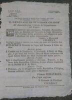 1797 MILANO ARMATA D'ITALIA NAPOLEONE SUI CONFINI REGGIO EMILIA MODENA LOMBARDIA