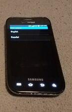 AS IS BROKEN Samsung Galaxy S Fascinate SCH-I500 2GB  Black Verizon GOOD LCD