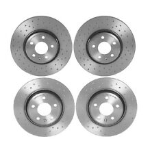 Brembo Xtra Front Rear Brake Disc Rotors Drilled Kit for A4 A5 Quattro Q5 09-11