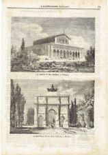 1871 Monaco:  La Basilica di San Bonifacio; La Siegesthor Porta della Vittoria