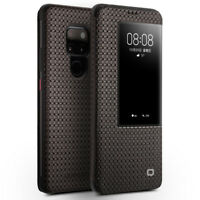 Für Huawei Mate 20 Pro QIALINO Echt Leder Smart View Schutzhülle Flip Case Cover
