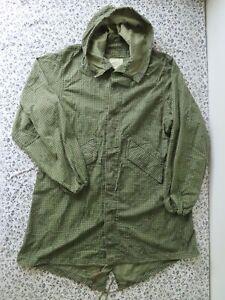 US Army Night Camouflage Fishtail Parka Desert Jacket no Liner Large