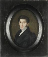 "Alexandre Henri Fontallard ""Portrait of Debruge-junior"", large miniature, 1833"