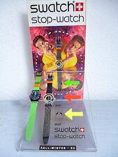 "SWATCH STOP: ""jess rush"" &"" CoffeeBreak"" & Display * mega-rarità nel set! *"