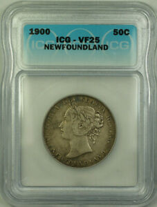 1900 Newfoundland Queen Victoria Silver 50 Cents ICG VF-25 KM#6