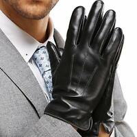 Leather Gloves for Mens, Full-Hand Touchscreen Gift Packaging