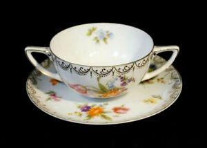 Beautifu Antique Rosenthal Selb Aida Cream Soup Bowl circa 1920