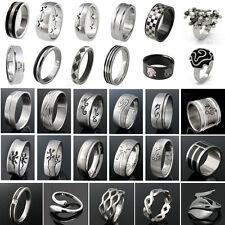 Edelstahl Ring Herren Damen verschiedene Modelle & Größen