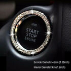1x 3cm Car Button Start Stop Switch Diamond Ring Silver Decorative Accessories