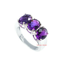 Natural Amethyst  Gemstones With 925 Sterling Silver Ring For Women's