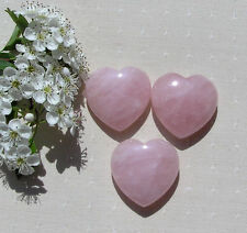 Natural Pink Rose Quartz Heart Shaped Jewelry Crystal Polished Stone Healing