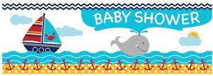 Creative Converting Ahoy Matey Baby Shower Party Banner - FREE SHIPPING