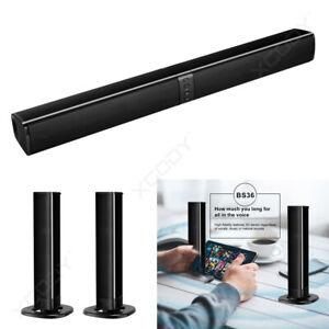 3D Bluetooth Wireless Home TV PC Soundbar Sound Detachable Stereo Speakers Neu