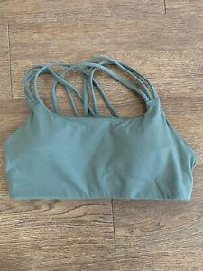 Athleta sports bra size medium Olive green