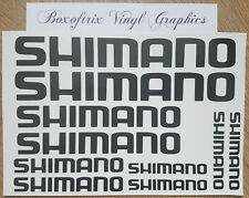 10 x Shimano Vinyl Decal Stickers - Bike, Cycle, Bicycle Frame, Fishing