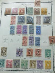 Guatemala 1898 - 1900 High Cat Val in 1inv o/p & i double o/p