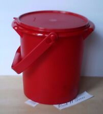 Tupperware 8 QT Bucket Canister w/ Handle Red New