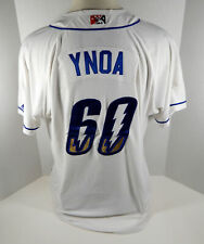 2019 Omaha Storm Chasers Michael Ynoa #60 Game Used White Jersey