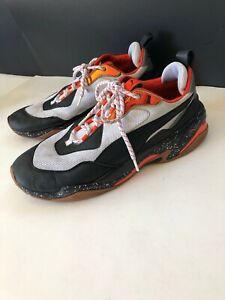Puma Thunder Electric Spectra Black, White & Orange Men's Shoes Size 12
