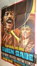 QUIEN SABE el chuncho  k kinski magnifique affiche cinema western spaghetti 1966