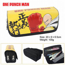 Anime One Punch Man  Pen Pencil Case Zipper Stationery Make Up Bag box cosplay
