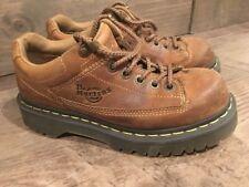 Dr Martens Boots Brown Leather Shoe Sz Men 5 Women 6