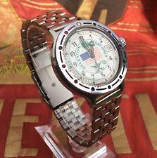 Rare! Original USSR Vostok Amphibia USA Desert Shield Automatic Watch 21 Jewels