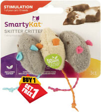 Cat Skitter Critters Mice 6 Pack Toy Catnip 100 Recycled Plastic Spike Potent