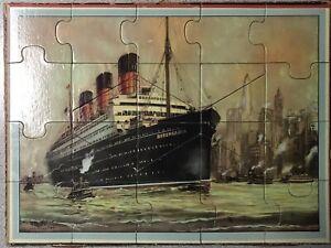 Vintage Wilder Mfg. Co. 1930's RMS Berengaria Ship Jigsaw Puzzle #119N No Box