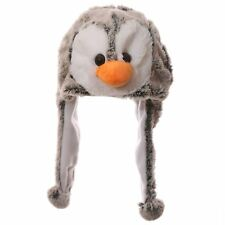 Kids Plush Penguin Hat 18cm High Wild Woolies Girl Boy Head Ear Warmer