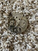 Vintage A.W.W.Co. Pocket Watch Movement (Not Working, For Parts Or Repair)