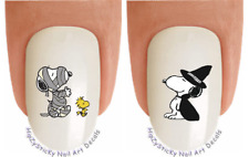 "Nail Decals #731H HOLIDAY ""Halloween Snoopy Mummy"" WaterSlide Nail Art Transfers"