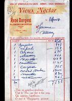 """VILLENEUVE-L'ARCHEVEQUE (89) VINS BIERES SPIRITUEUX """"René DARGENT"""" en 1957"""