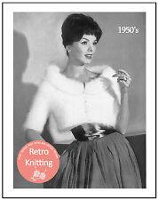 1950's Angora Bolero - Vintage Knitting Pattern Copy