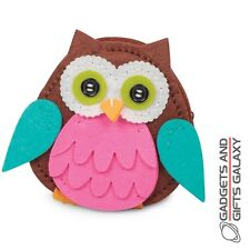 MAKE YOUR OWN OWL FELT PURSE SEWING KIT crafty childs gift toy stocking filler