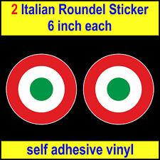 """6"""" Italian Air Force Roundel Stickers RAF MOD Who Vespa Lambretta Scooter decal"""