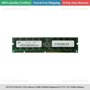 MT18LSDT6472G-133C2 Micron 512MB SDRAM Registered ECC PC-133 133Mhz Memory