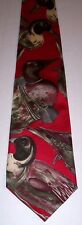 Ducks Unlimited Tie Silk Mallard Theme Men's Novelty Necktie Red