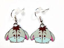 Disney WINNIE THE POOH Inspired EEYORE Head Character Dangle Earrings Ships Fast