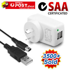 New AU Wall AC Mains Charger Adaptor Cable for Nintendo 3DS DSI NDSI XL/LL